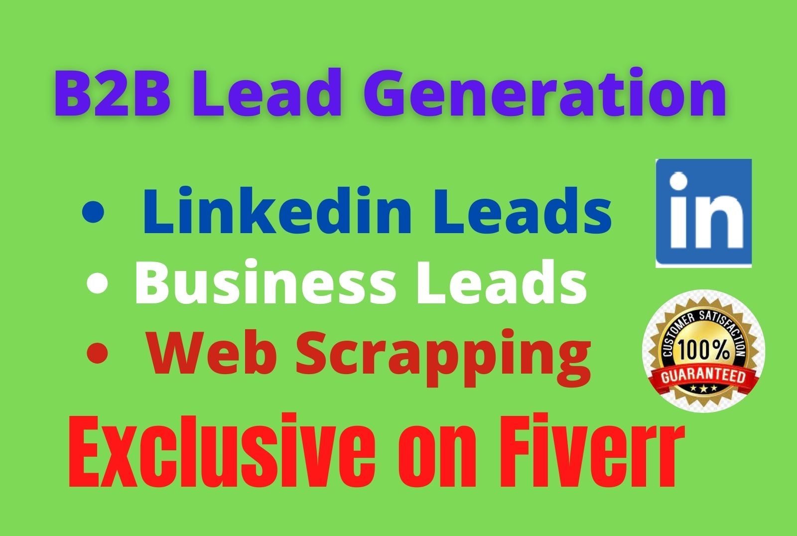 I will B2B LinkedIn LeadGeneration