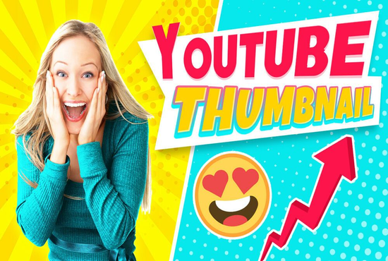 I will create youtube thumbnail for you