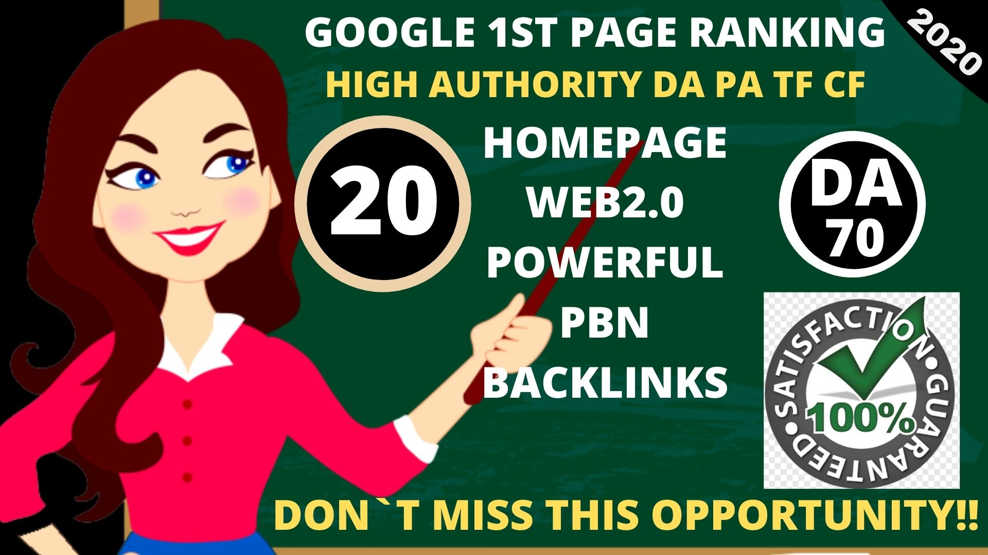 DA 70+ PA Web2.0 20 Pbn Backlink in 100 dofollow in unique site