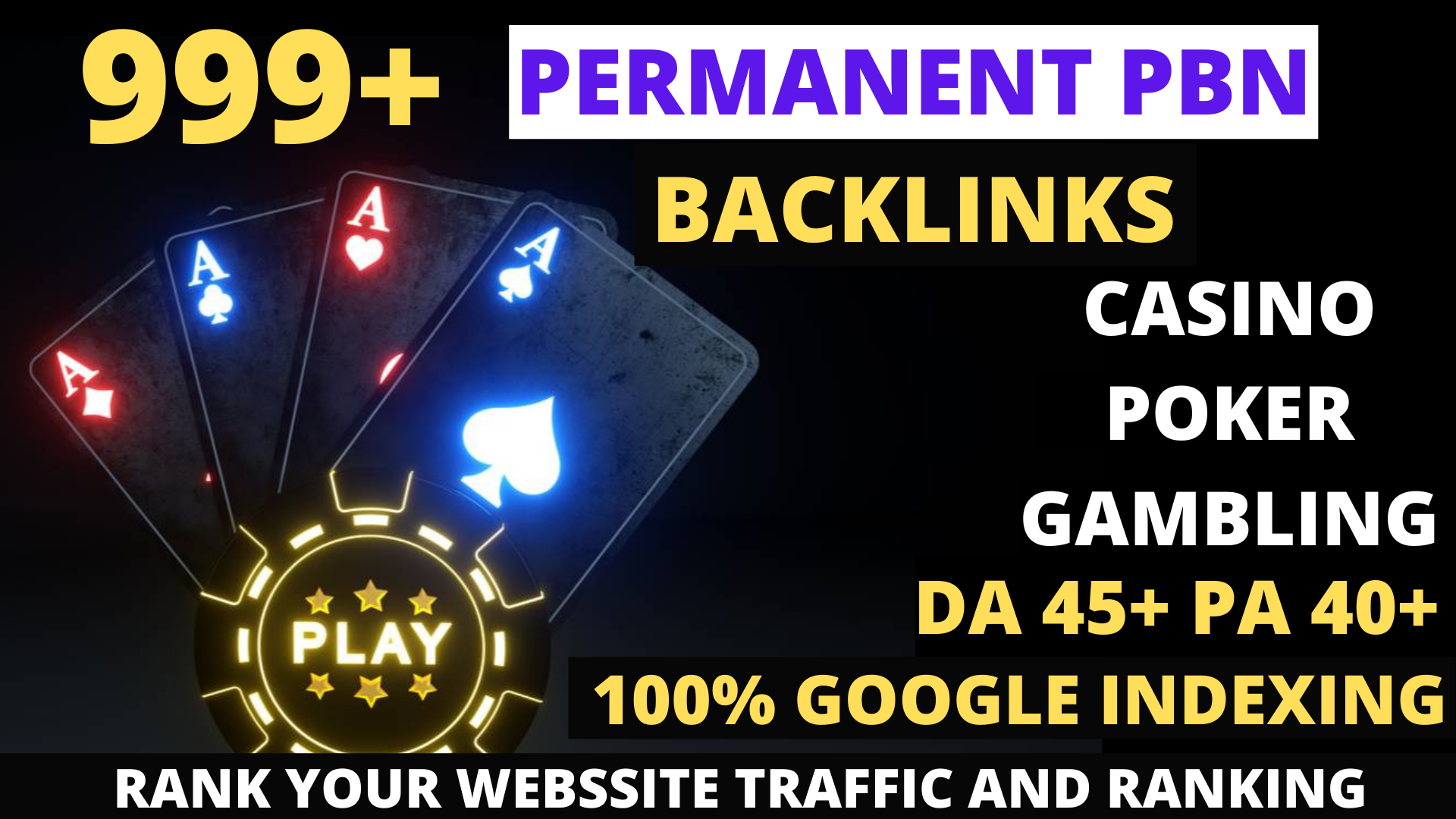 Permanent 999+ powerful Casino, Gambling, Poker, Sports High Quality Web2.0 Backlinks