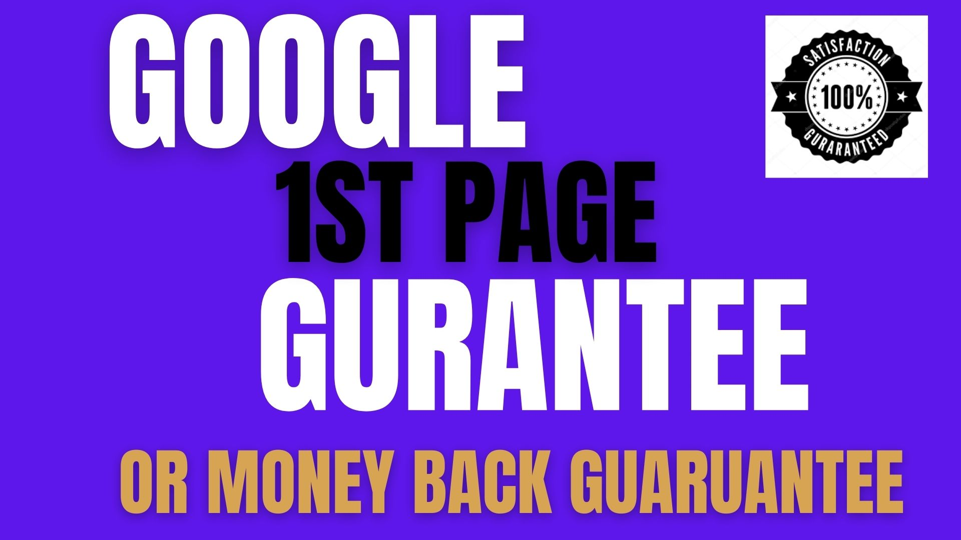 Rank Your Website on Google 1ST PAGE GUARUANTEE,  30 Days SEO Backlinks Manually