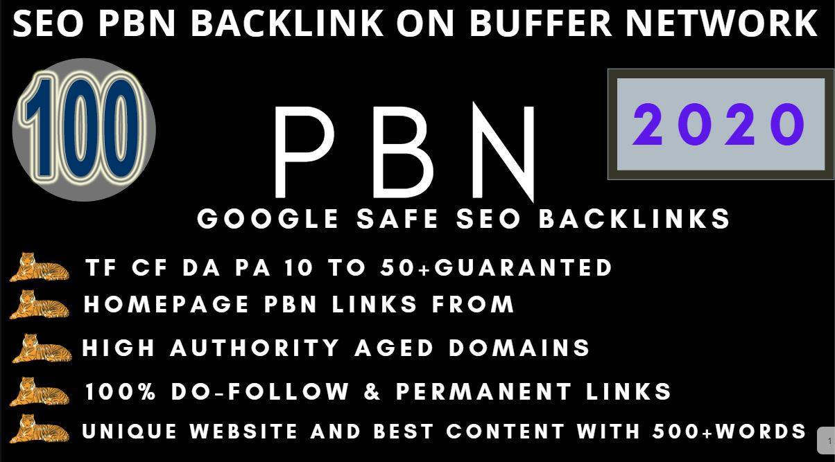 I will create100+PBN Backlink in your website hompage with HIGH DA/PA/TF/CF with unique website