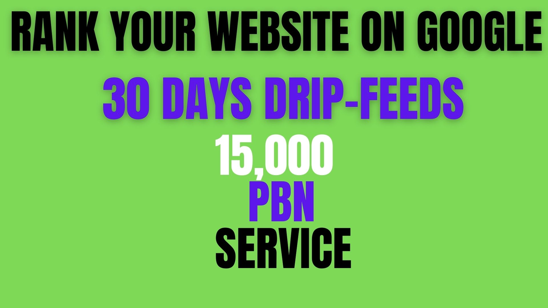RANK your website on google 15,000+Permanent PBN homepage links 30 days drip-feeds unique site