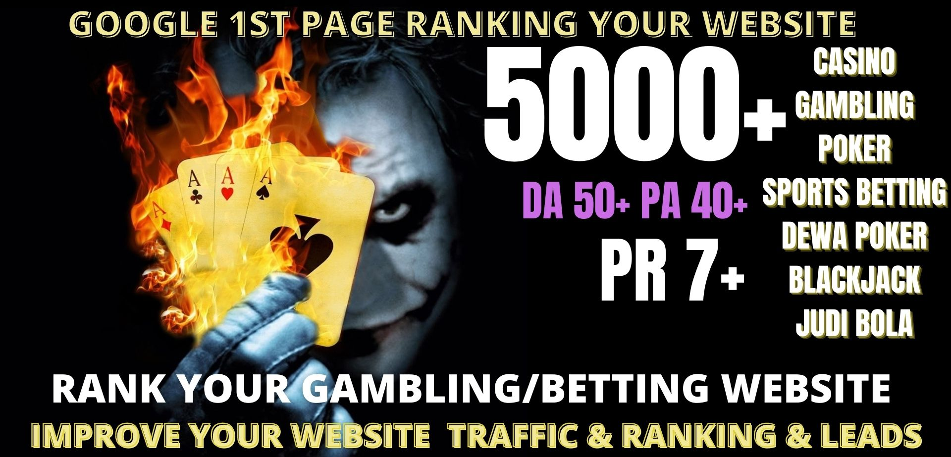 Rank 1st page 5000+pbn casino/ Poker/gambling/judi bola related homepage with unique website links