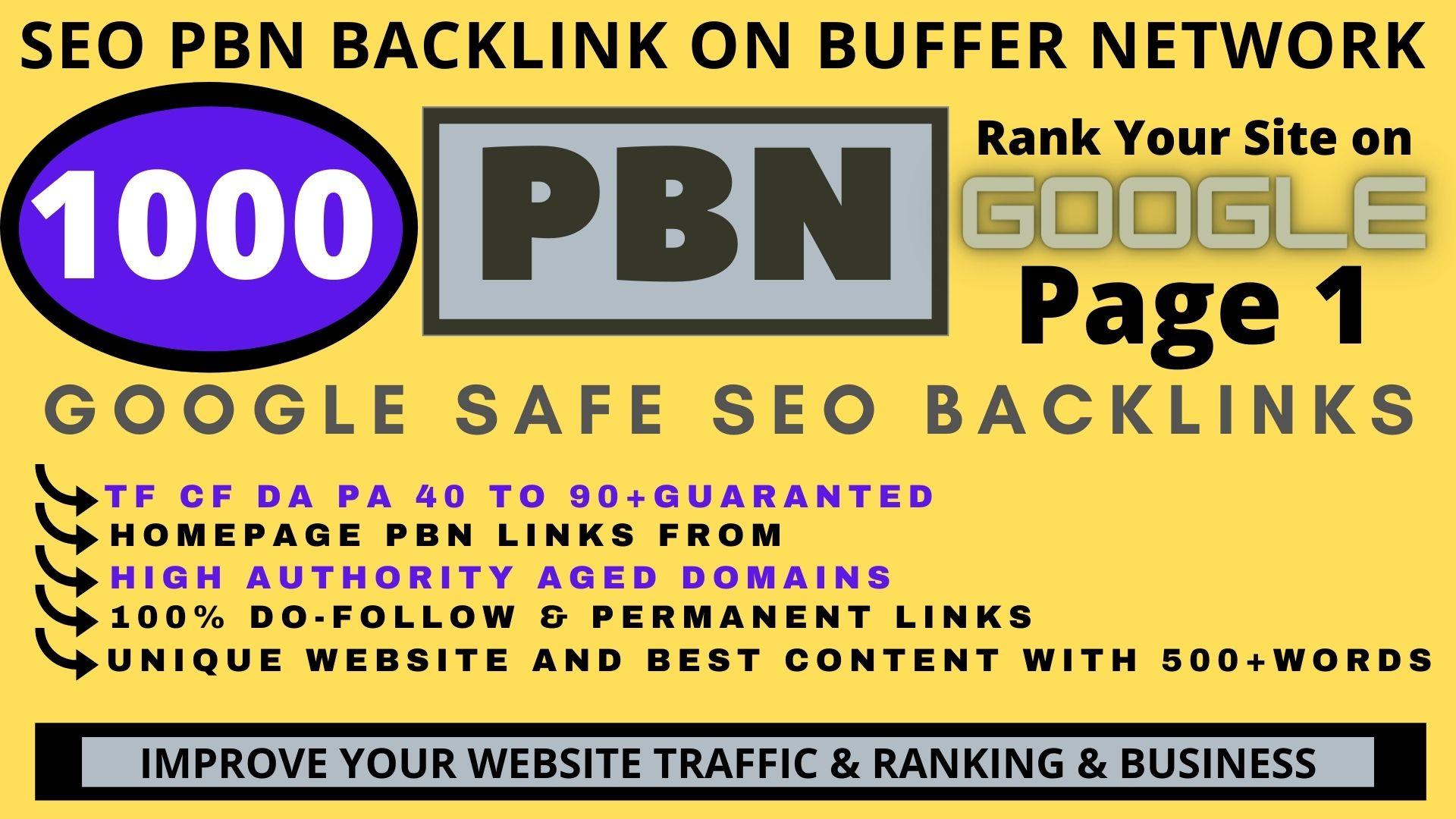 Build Premium 1000 PBN & WEB 2.0 Backlink with Permanent Dofollow & High DA PA TF CF