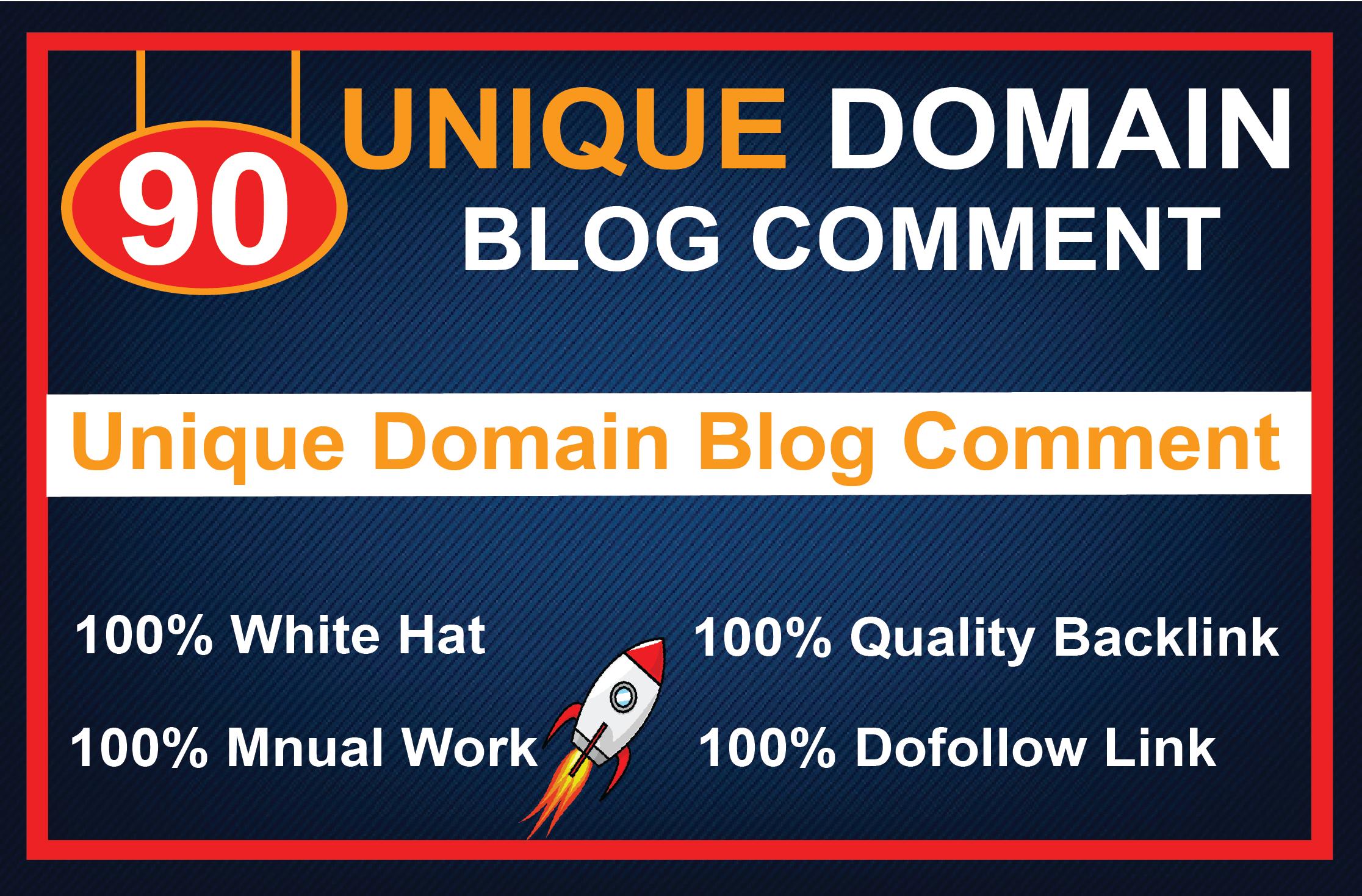 I Will 90 Unique Domains Manual Blog Comments Backlinks Da Pa