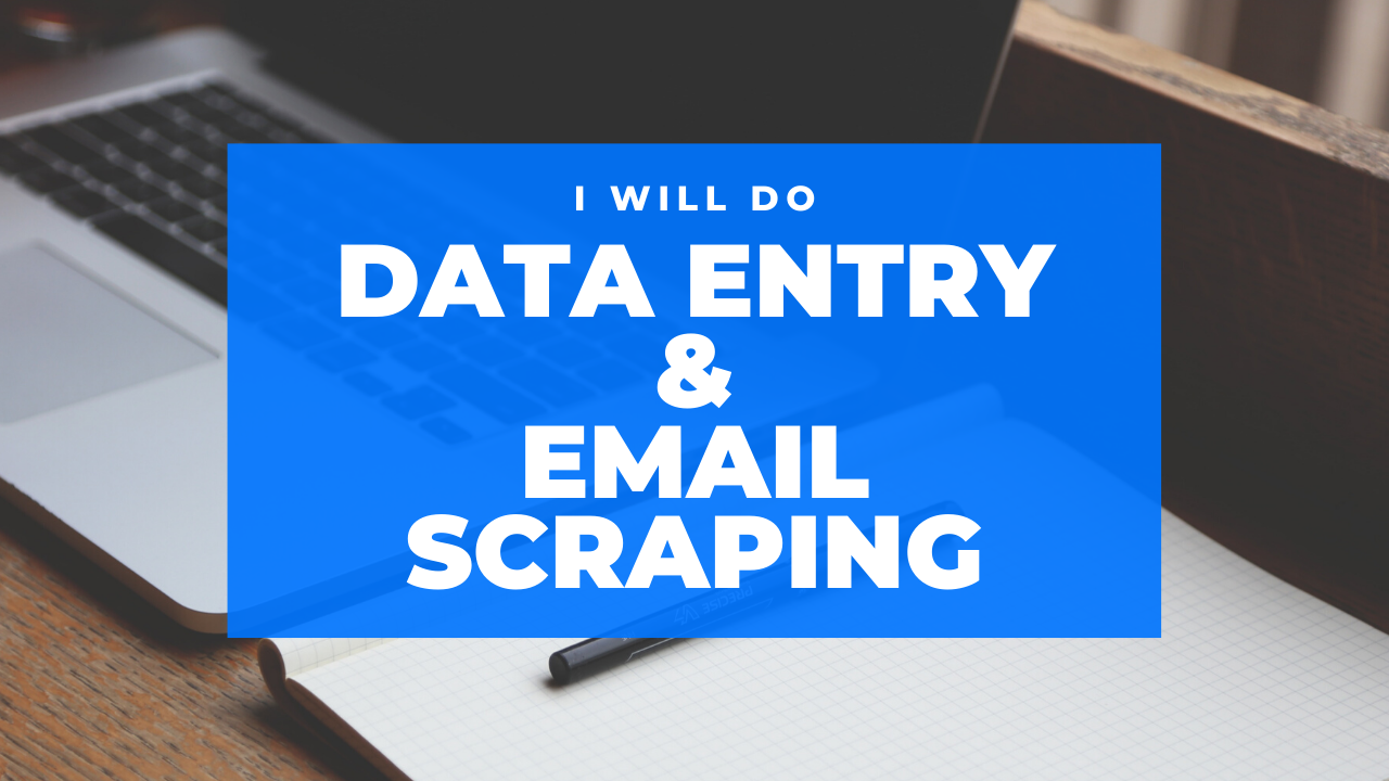 I will do data entry,  email scraping, copy paste work