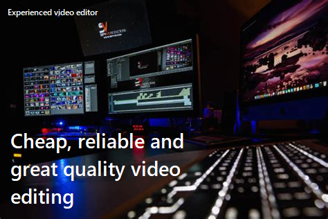 Great and reliable video editing!