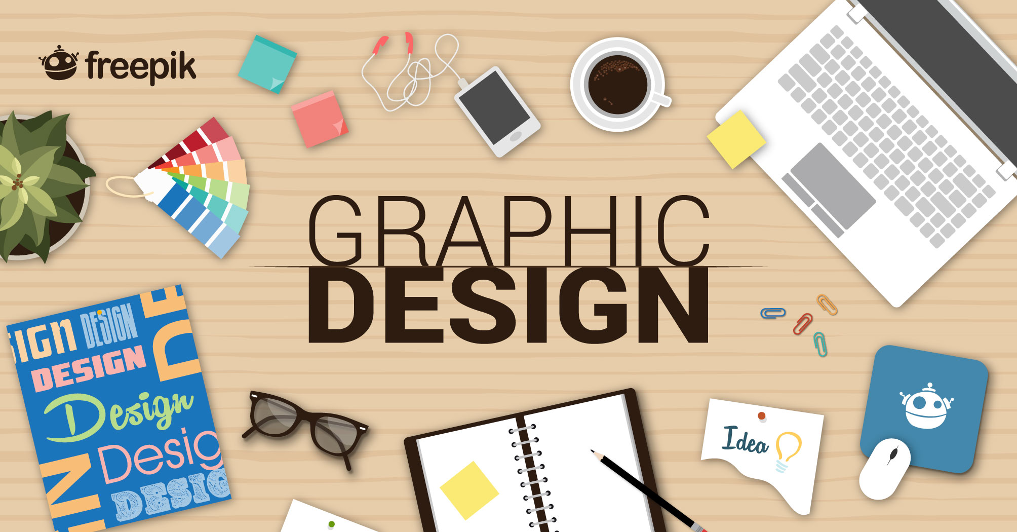 Freelance services of graphic designing for different products and services suitable to business