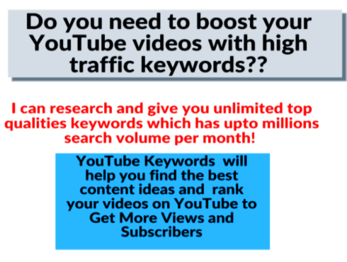 200 youtube seo keywords & ideas which has millions & thousands search volumes