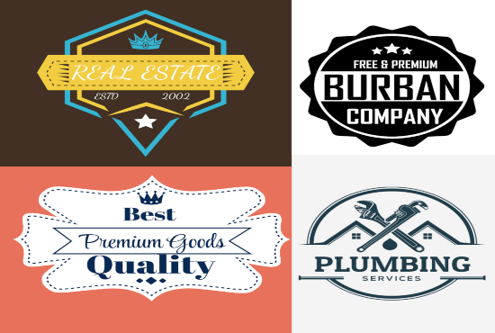 I can do 2 creative vintage,badge and retro logo design concepts