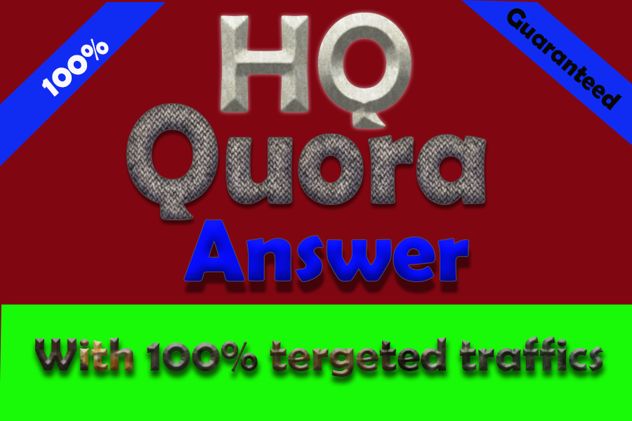 20 HQ Quora Answers together with your keywords