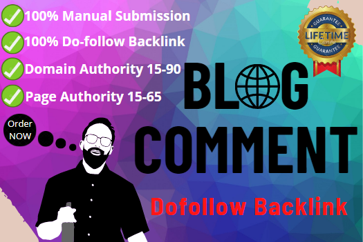 I will make 60 high-quality backlinks using blog comments