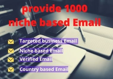 I will collect 1000 niche based targeted email address