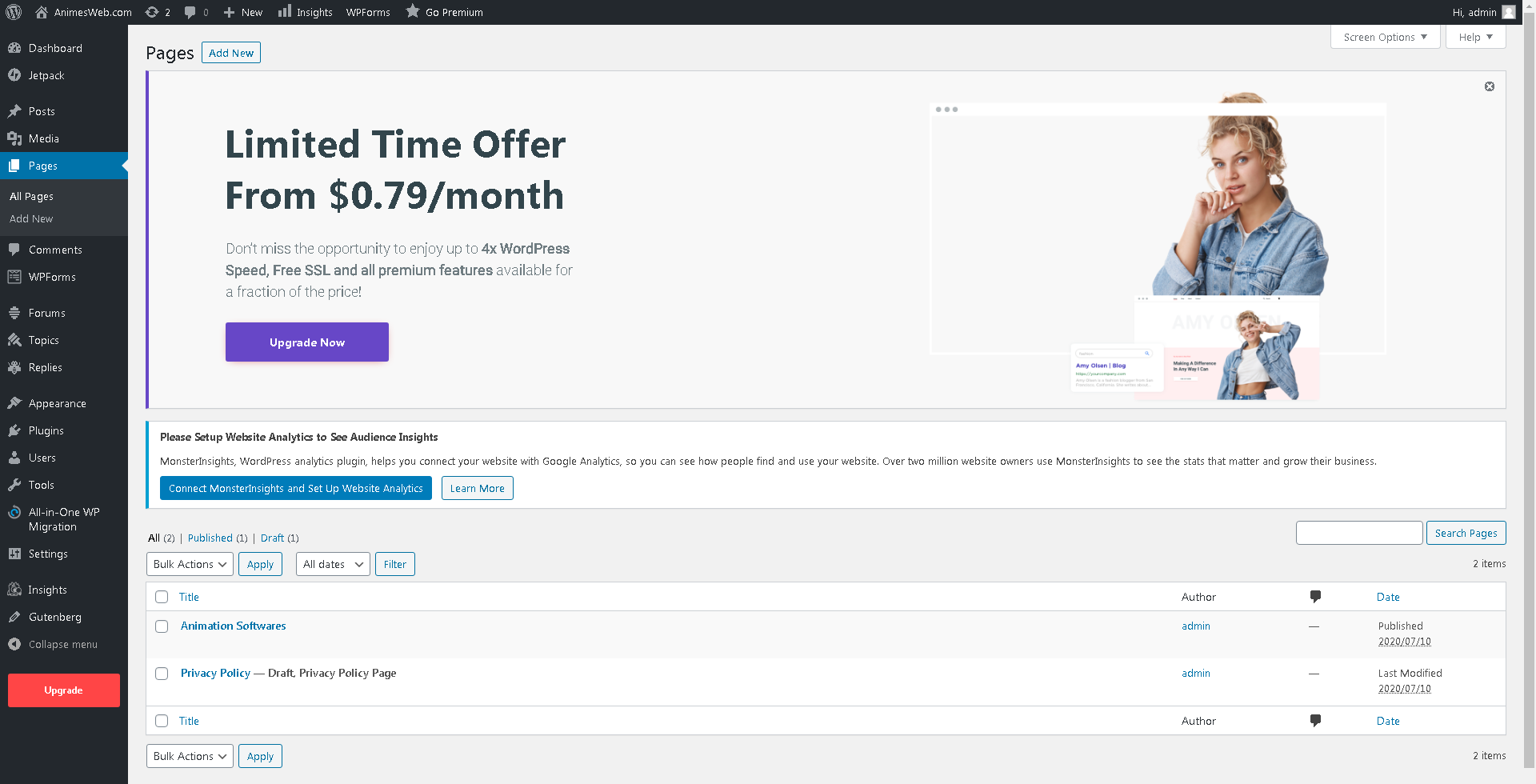I will be a Virtual Assistant of WordPress for 3 weeks