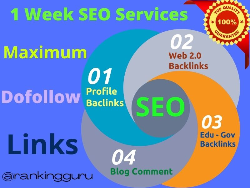 Upgrade 2020 multiple SEO Backlinks services for ranking your website on Google TOP page