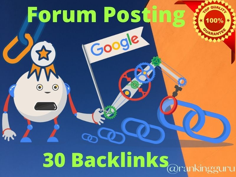 I will manually do 30 high quality forum posting Backlinks