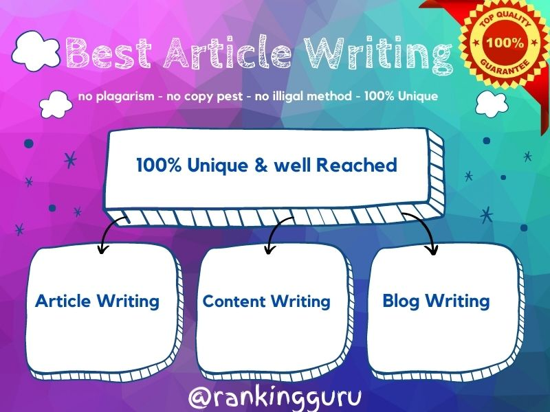 Article or Content or Blog Writing in any Topic for 1000-1500 words anytime