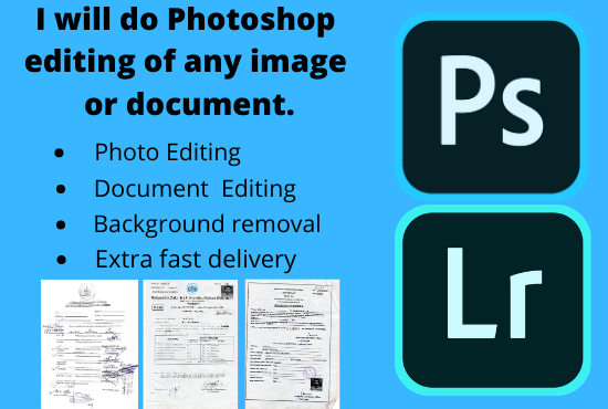 do any type of Photoshop editing of images and documents