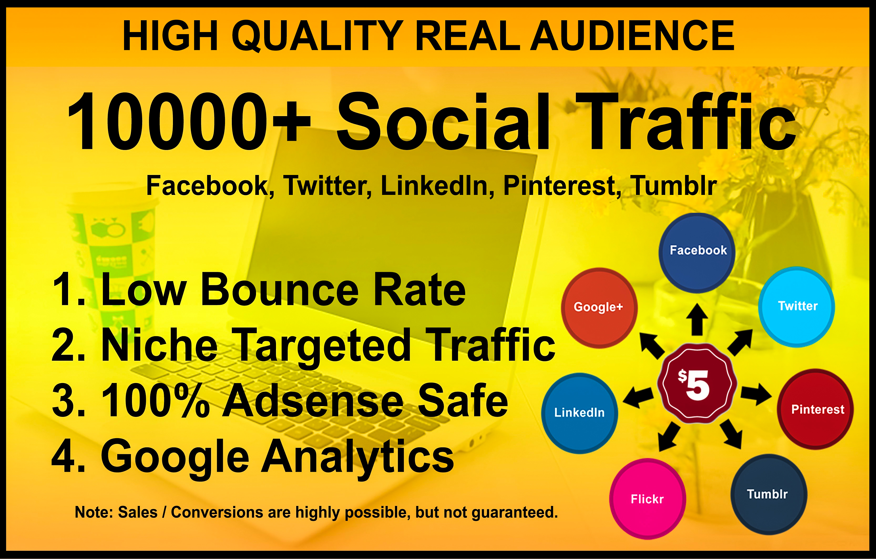 I will drive niche targeted USA traffic, real organic web visitors