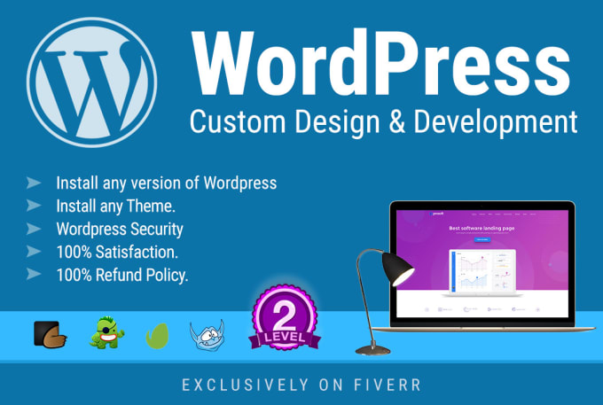 Wordpress custom design and development