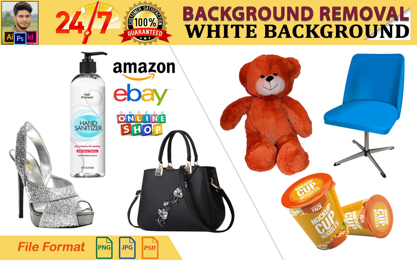 I will do product image background remove