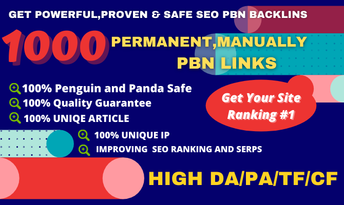 Get Extream 1000 Parmanent BacklinK with High DA/PA/TF/CF on your HomePage in unique website