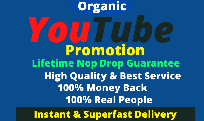 I Will Do You-Tube Video and Account Promotion Visitor Real World Wide user
