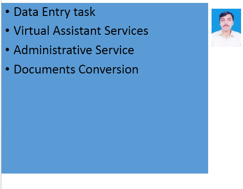 Data Entry, Virtual Assistant, Administrative Services