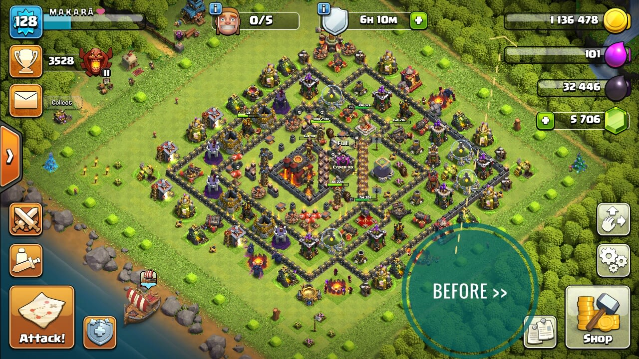 I will bring it on max out your clash of clan base