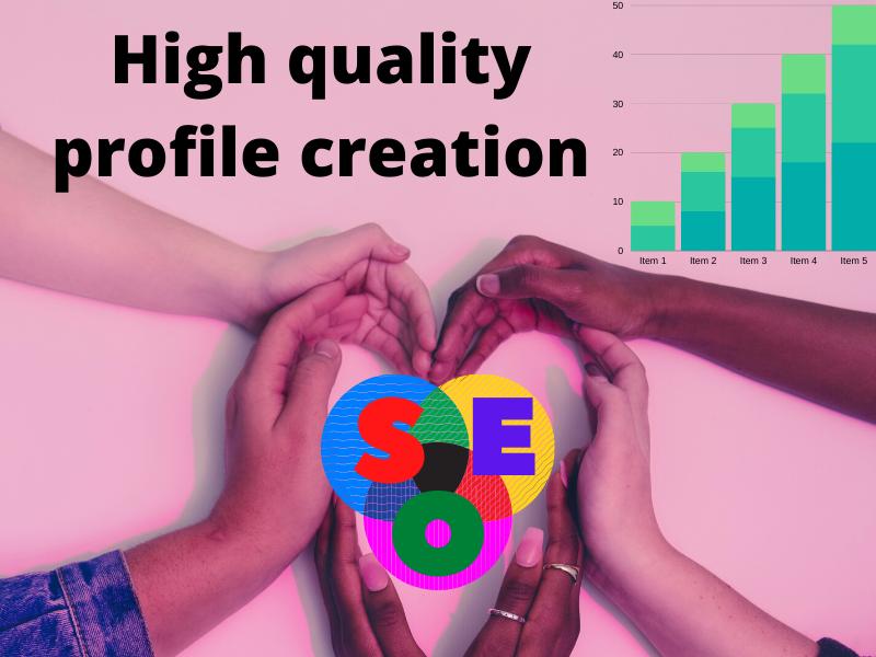 I will do 50 high quality profile creation backlinks/ Linkbuilding manually