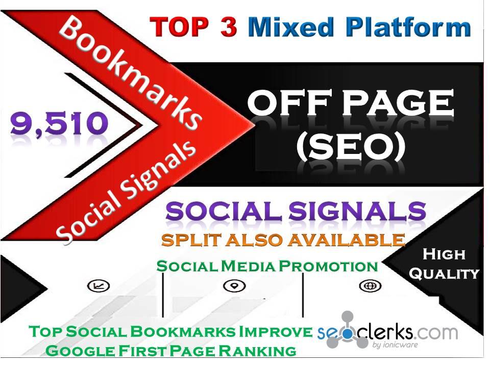 TOP 3 Powerful Mixed Site 9000 Pinterest|500 Tumblr|10 Reddit Bookmark Backlinks SEO Ranking
