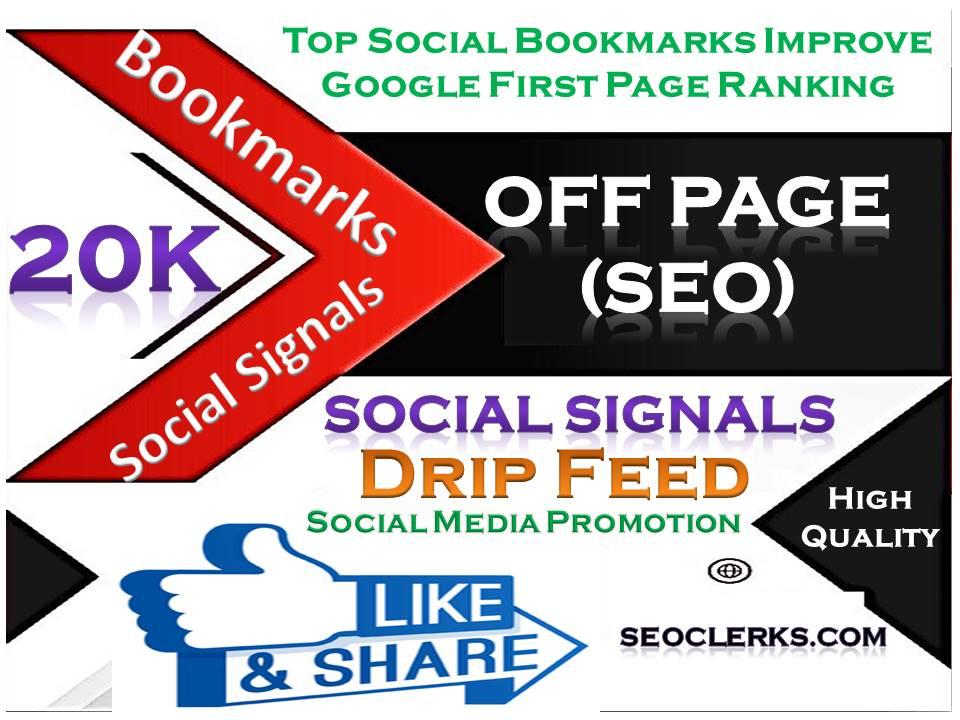 TOP Powerful Site 20,000 Social Signals HQ Bookmark Backlinks SEO Boost increase Google Ranking