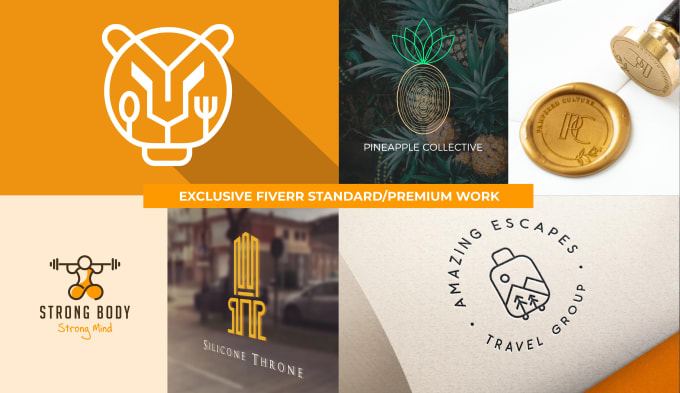 I will design premium, creative logo with all files