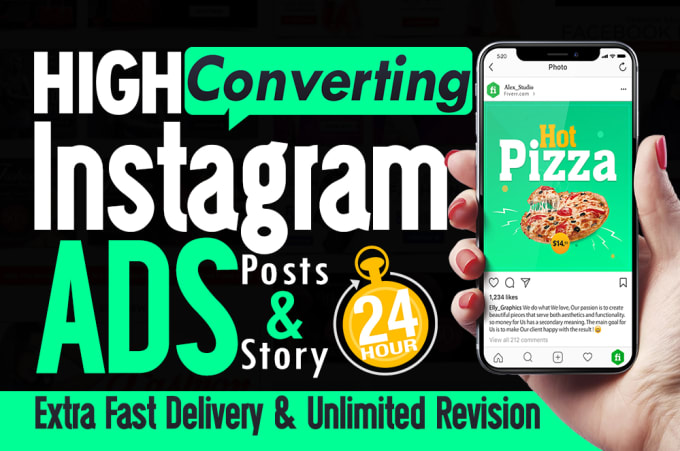 I will design engaging instagram promotion flyer post banner ad