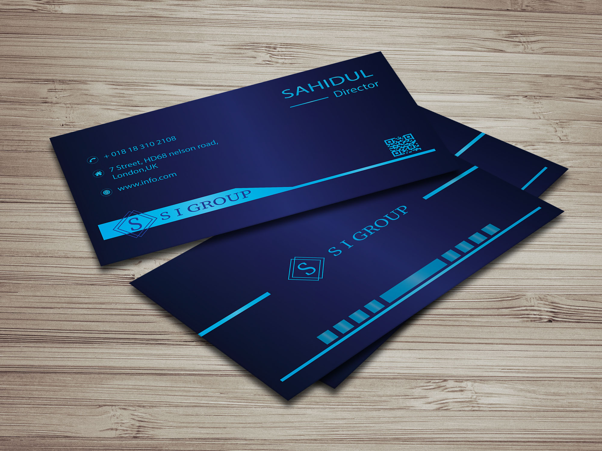 I will design professional, creative and modern business card