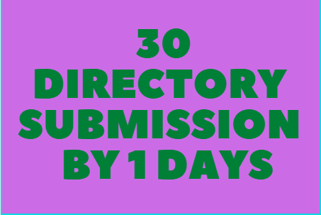 30 Directory Submission within 1 days
