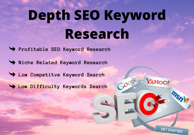 I Will Do Provide 30 SEO Keyword Research In Your Website And Amazon Affiliate Niche Site