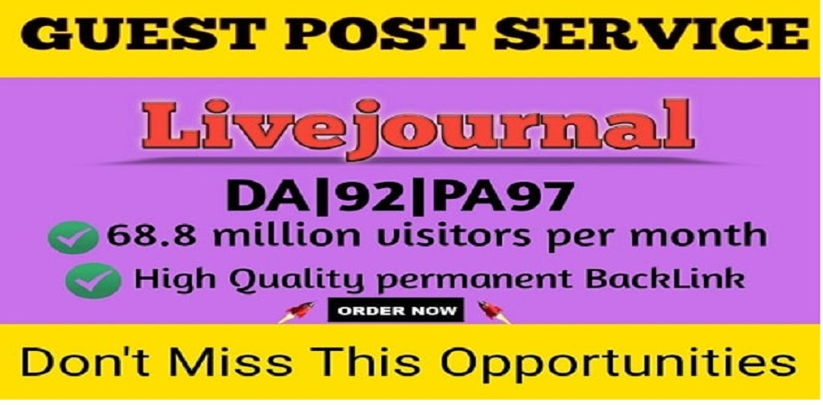 I will write and publish guest blog post on livejournal da92