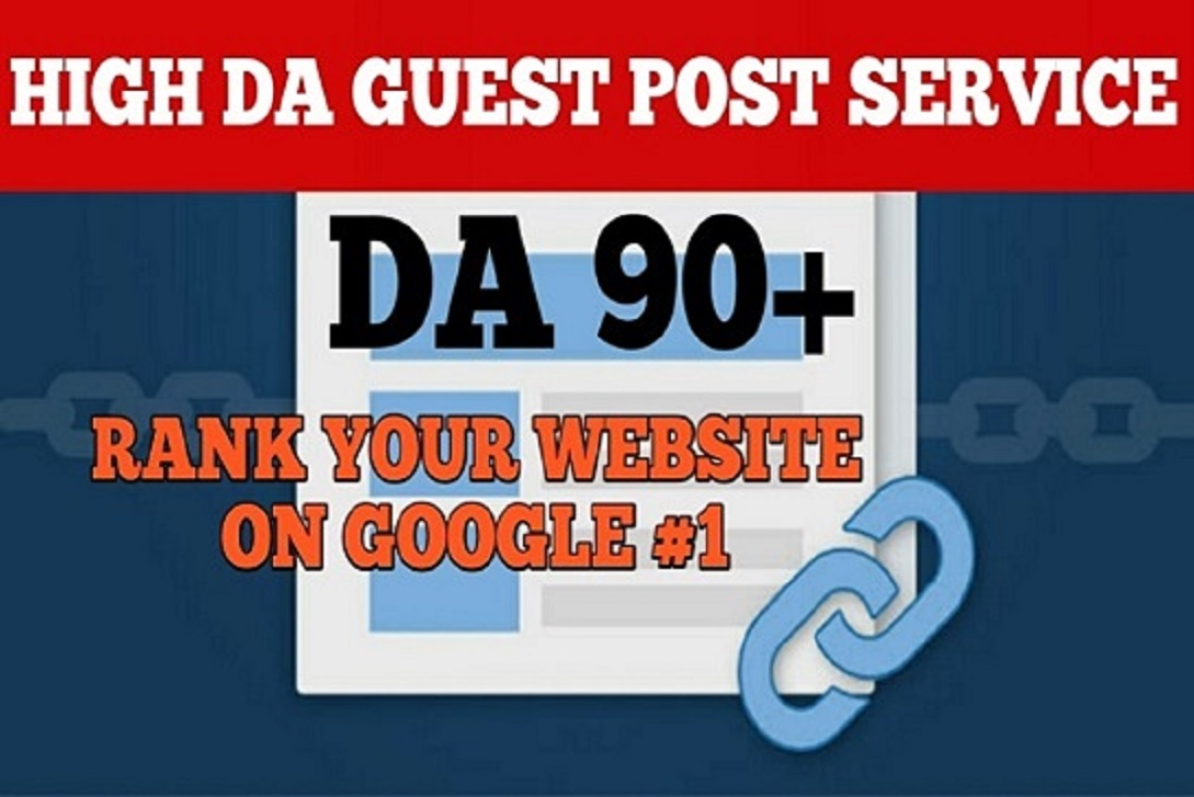 Write and publish 10 DoFoIIow guest posts on DA 90+ sites