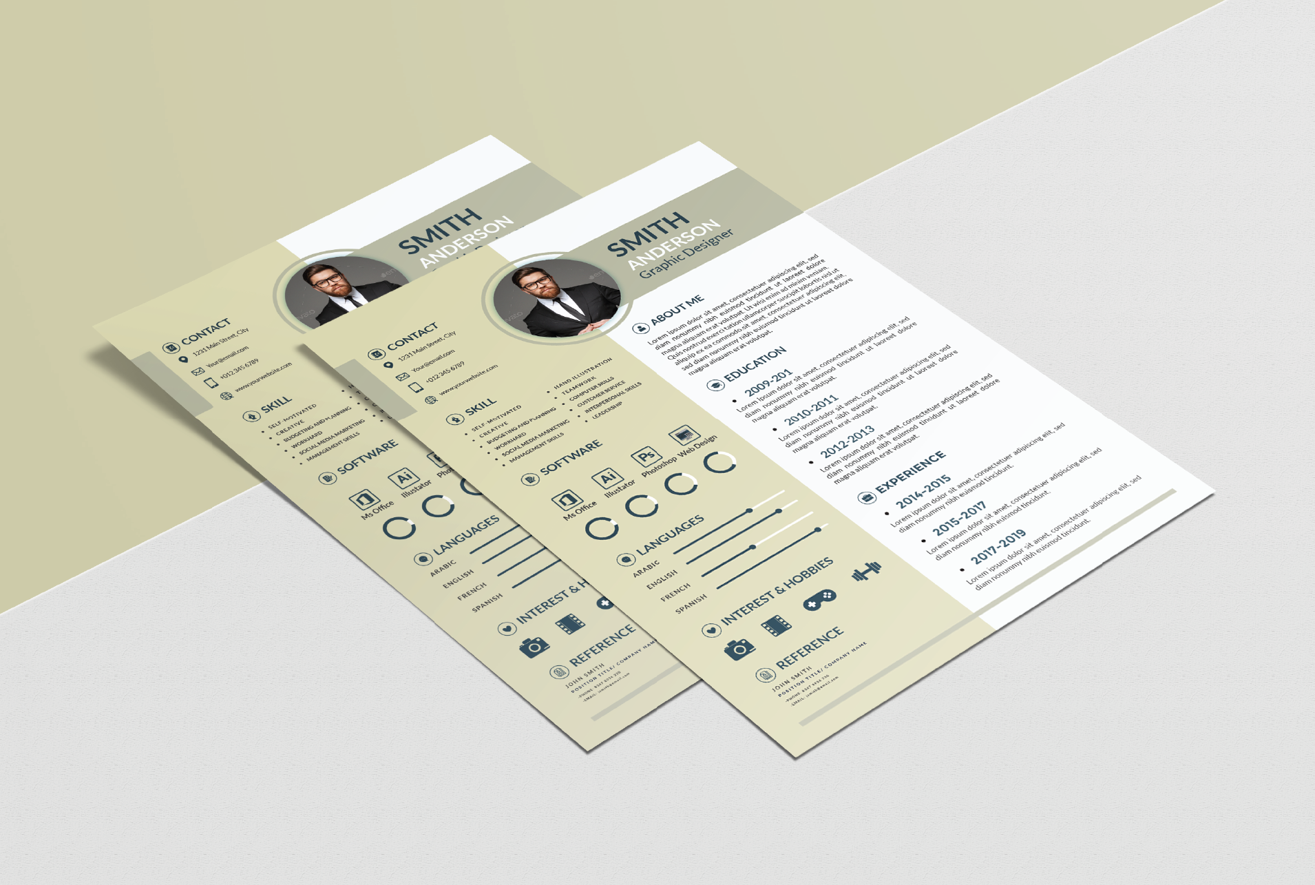 I will Design a professional CV resume or cover letter Templates