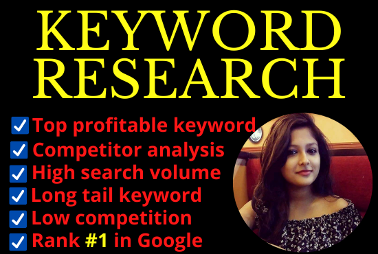I will supply SEO Keyword research and competitor analysis