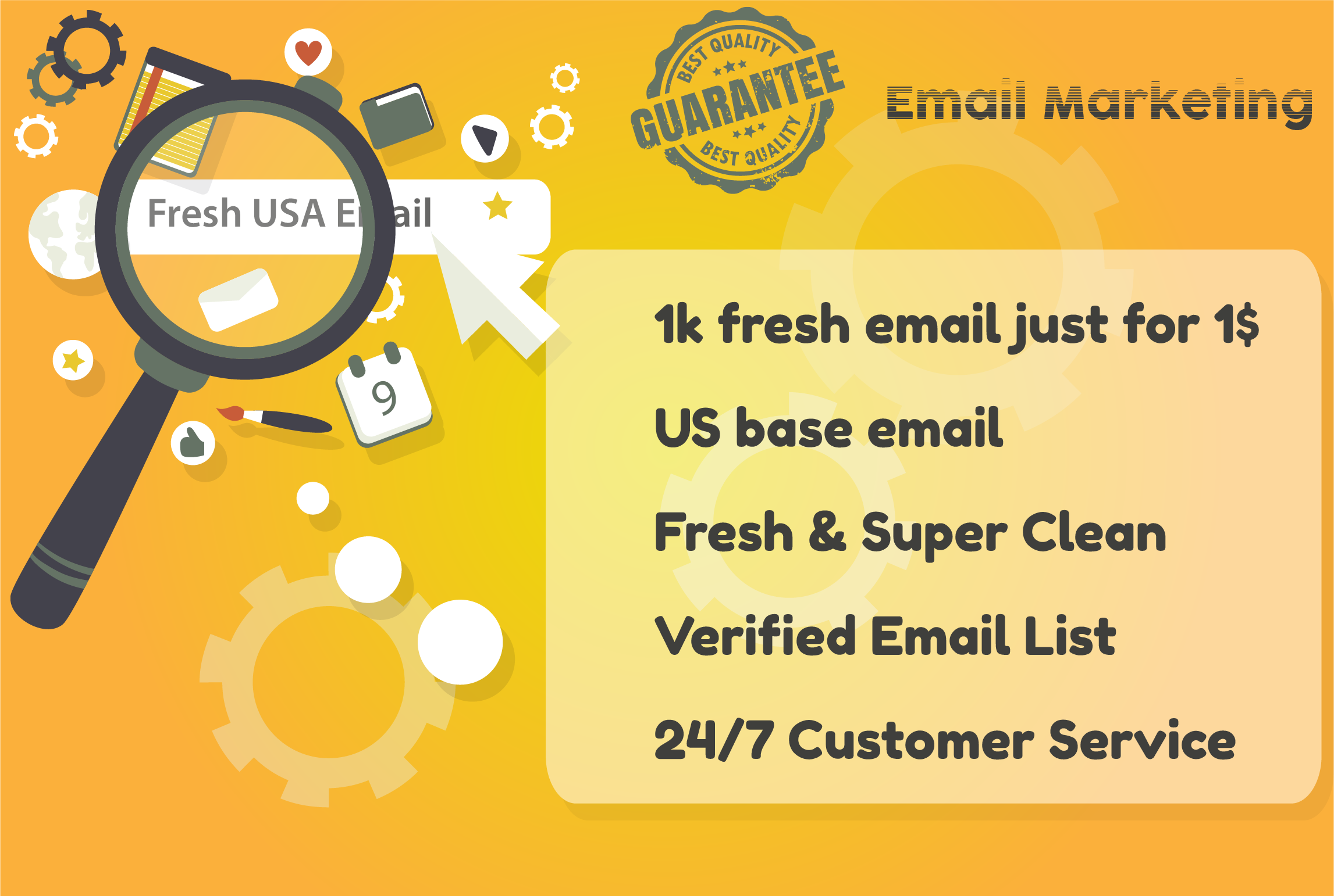 I will provide 1k us base fresh and valid email