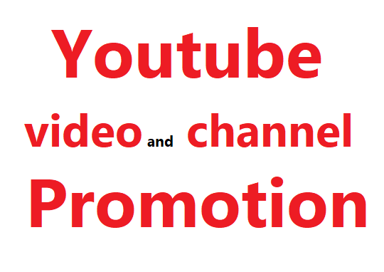 Youtube video and account promotion