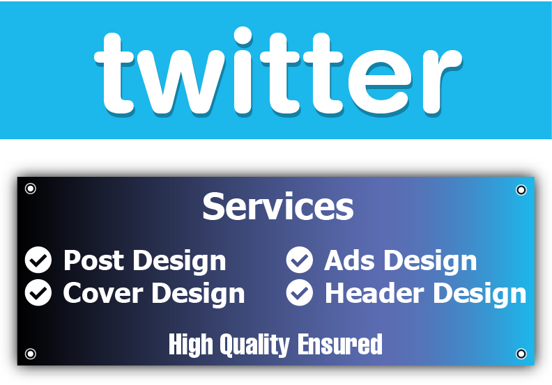 Design Twitter Cover Post and Ads