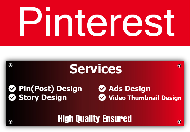 Design Pinterest Post or Pin,  Story,  Ads and Video Thumbnail