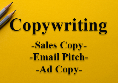 Copywriting with highly converting sales copy,  sales pitch and ad copy