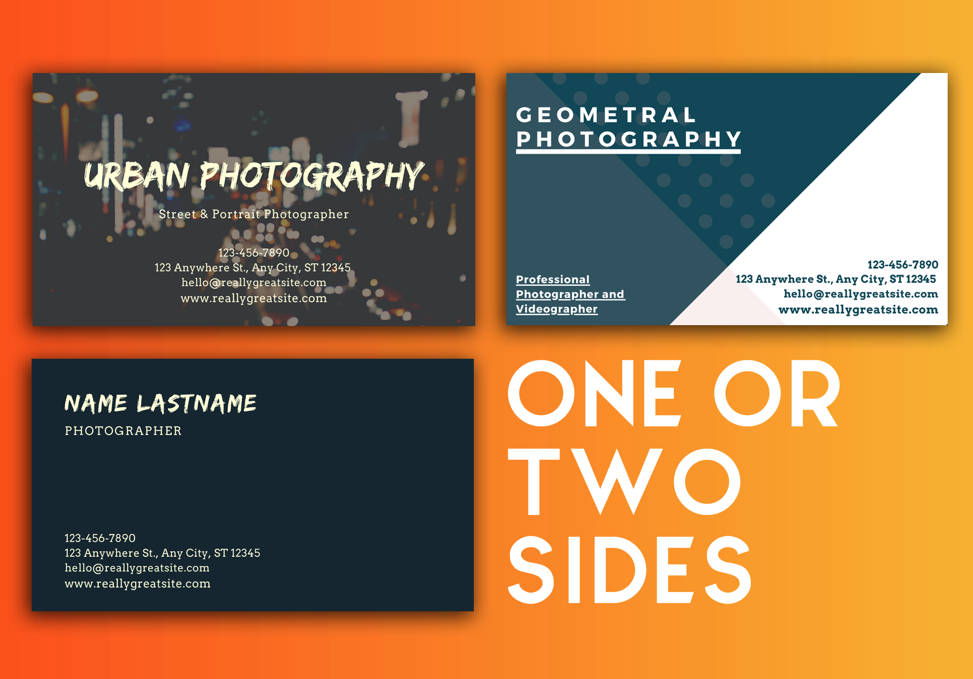 I will make beautiful and modern business cards that they best describe your job!