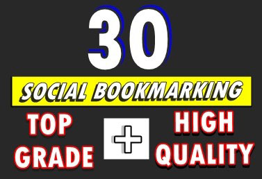 Generate 30 organic social bookmarking for promoting your business