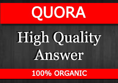 Promote your website By 40 high quality answer posting in QUORA